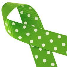 polka dot ribbon grosgrain apple green polka dots ribbon 1 yard