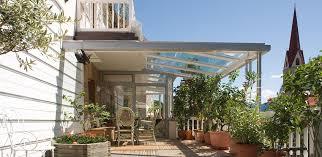 tettoie per porte esterne tettoie in vetro finstral per verande pvc