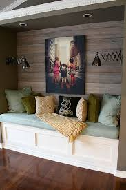 reading nook with wood plank wall wood plank walls planked