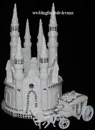 w cake topper wedding fairytale dreams bling lighted cinderella castle cake