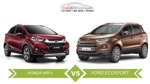 honda wr v vs ford ecosport specs comparison