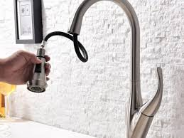 Brushed Nickel Single Handle Kitchen Faucet by Sink U0026 Faucet Contemporary Goose Neck Brushed Nickel Kitchen