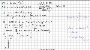 2015 ap calculus ab free response question 1 youtube