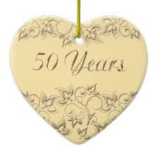 50th wedding anniversary christmas ornament heart shaped golden wedding anniversary ceramic decorations