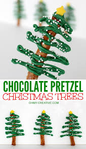 chocolate pretzel trees oh my creative