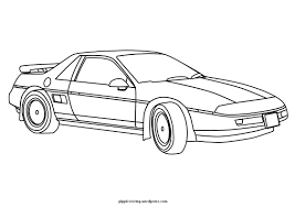 car coloring pages the sun flower pages
