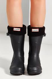 short biker boots hunter short boot sock in black lyst