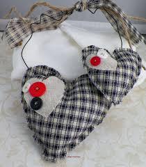 hanging fabric heart home decor on handmade artists u0027 shop