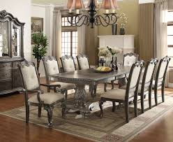 kiera antique gray oak dining table set