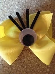 minion ribbon minion bow i made created by me hair bow