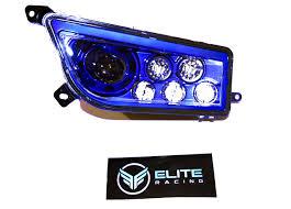 Led Blue Light Bulb by Polaris Rzr 1000xp Led Blue Headlights U2013 Elite Racing Co