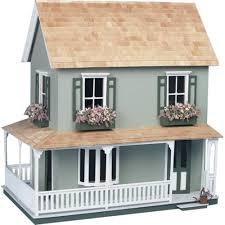Doll House Furniture Ideas Greenleaf Laurel Dollhouse Kit 1 Inch Scale Hayneedle