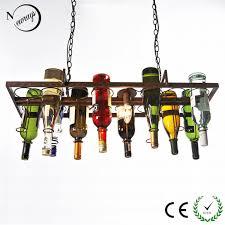 restaurant kitchen lighting aliexpress com buy diy vintage retro hanging wine bottle ceiling