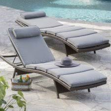 Pool Chaise Lounge Lounge Chairs White Aluminum Chaise Lounge Outdoor Patio Lounge