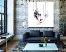 art home decor hand drawn face etsy