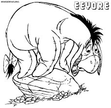 eeyore coloring pages coloring pages to download and print