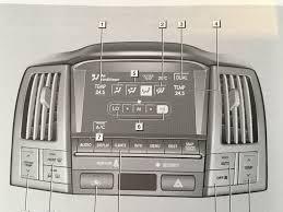 lexus rx300 heater not working front windscreen defogging light stays on rx 300 rx 350 rx