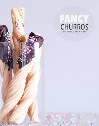 fancy churros buy at costco bake at home add sprinkles of