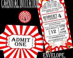 carnival invitation etsy