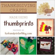 thanksgiving thumbprint crafts up handprint
