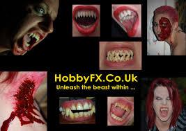 hobbyfx custom made vampire fangs sfx makeup and supplies