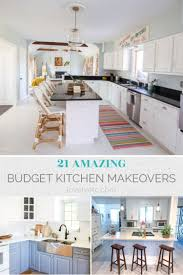 how to fit a kitchen cheaply 21 of of the best budget kitchen makeovers 1000