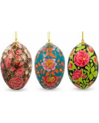 ukrainian ornaments check out these bargains on 3 set of 3 flowers ukrainian easter