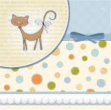 new baby shower card with cat royalty free cliparts vectors and
