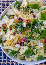 cranberry feta bowtie salad with spinach the recipe critic