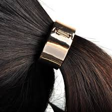 hair holder stunning fashion rock metal circle ring hair cuff elastic