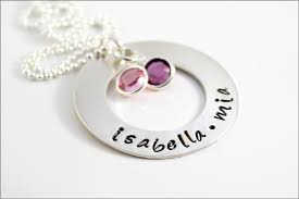 mothers day birthstone jewelry personalized necklace custom gifts for silver