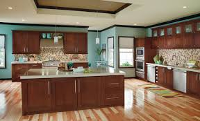 Blue Kitchen Walls by Kitchen Design Your Own Kitchen Using Brown And Red Rustic Wooden