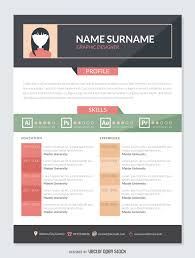 graphic designer resume mockup template vector download