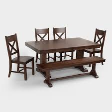 dining room with bench mahogany verona bench world market