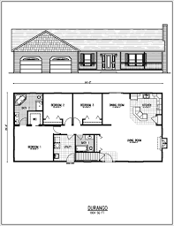 Home Design Ranch Style House Plans Rectangle Cheap 1950