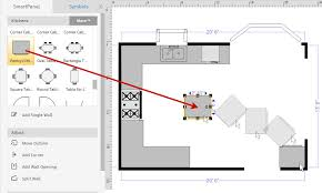 How To Draw A Floor Plan With SmartDraw - Draw kitchen cabinets