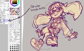 my sai drawing process glitchedpuppet