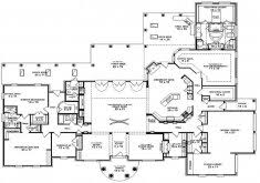 house plans 1 story 5 bedroom 1 story house plans home design