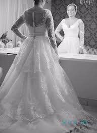 sheer sleeve wedding dresses h1248 sheer back lace wedding dress with sleeves