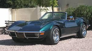 corvette stingray 71 green 1971 chevrolet corvette stingray convertible vintage cars