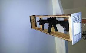 in wall gun cabinet hidden gun storage ideas and diy projects
