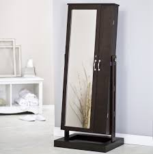 bedroom nice natural wooden jewelry armoire kohls necklace holder