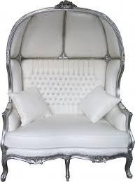 2er sofa weiãÿ casa padrino barock 2er ballon sofa weiß lederoptik silber