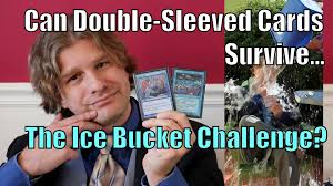 Magic Card Meme - mtg can double sleeved magic cards survive the ice bucket