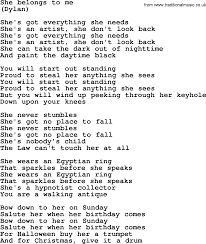 songs for halloween she belongs to me by the byrds lyrics with pdf