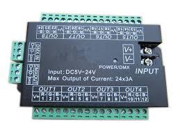 dmx led strip lights dc5 12 24v 24ch 8group dmx512 decoder controller 24 channel dmx