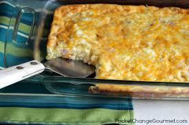 egg strata casserole ham and egg casserole recipe pocket change gourmet