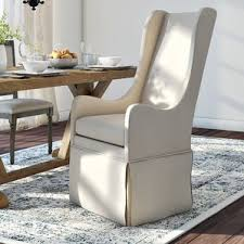 dining chairs with arms wayfair