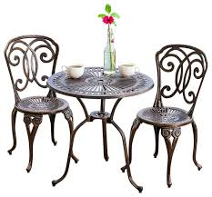 Patio Furniture High Top Table And Chairs by Budapest 3 Piece Outdoor Bistro Set Contemporary Outdoor Pub