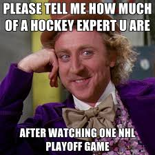 Nhl Meme - please tell me how much of a hockey expert u are after watching one